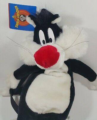 Sylvester the Cat Looney Tunes Jaclyn Childs Backpack Plush 1997 New Tags vtg