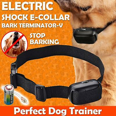 Electric Shock Anti-Bark E-Collar Dog Stop Barking Training Control Trainer