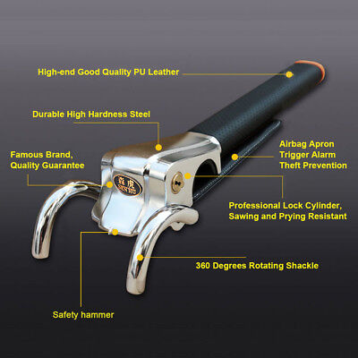Car Antitheft Locking Devices Steering Wheel Lock With Safety Hammer
