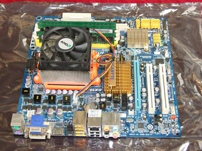 Gigabyte GA-MA78GM-S2H AMD Socket AM2 motherboard with Ram and CPU