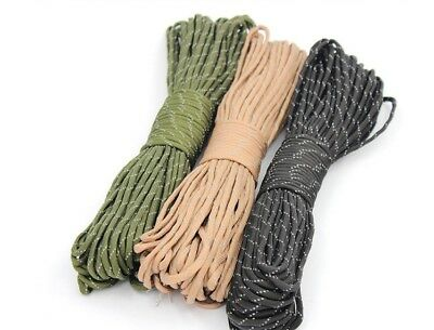 HOT sell 25/50/100FT 550 Paracord Rope 7 strand Parachute Cord CAMPING HiKING