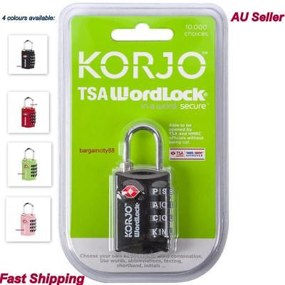 Suitcase Travel PadLock with TSA Approved Combination Luggage Bag Pad Lock KORJO