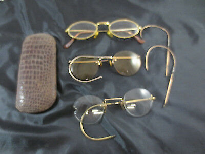 Konvolut alte Brillen Nickelbrille Glasses Film Theater Requisite Nerd Optiker