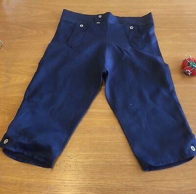 Regency Style Gentleman's Breeches In French Navy Linen