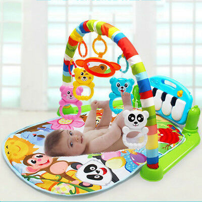Baby Kids Soft Cotton Playmat Musical Pedal Piano Activity Fitness Gym Mat Gifts