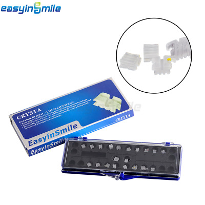 20/Pack Easyinsmile Dental Orthodontic Roth/MBT Ceramic Bracket 0.022 3/345Hook