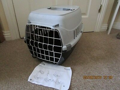 Plastic Pet Carrier with handle and Cage Front Brand New BLACK