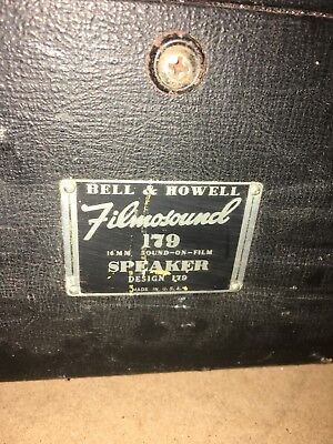 Vintage Bell & Howell Filmosound 179 16mm Sound In Film Projector