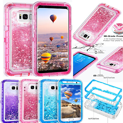 Glitter Bling Sparkle Cute Shockproof Full Protective Samsung Phone Case Cover