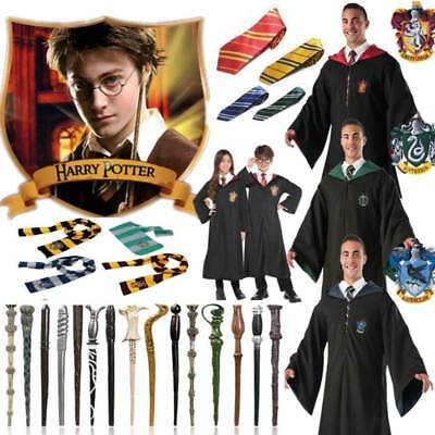Harry Potter Gryffindor Slytherin Robe Mantel Krawatte Schal Wand Cosplay Kostüm