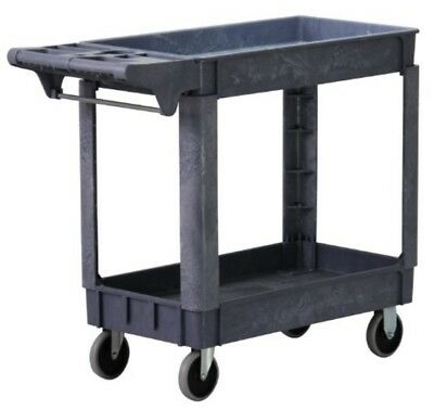 """Rolling Service Utility Cart 500-Pound Capacity 2 Shelves 5"""" Non-Marring Casters"""