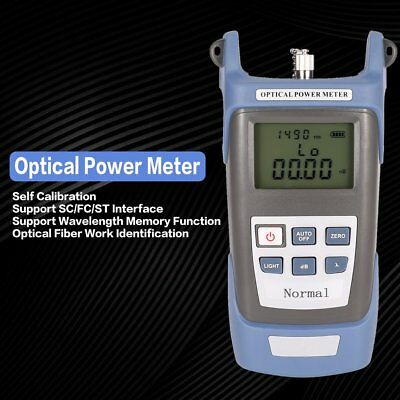Handheld FTTH Fiber Optic Optical Power Meter Cable Tester Network -70~+20dBm BW
