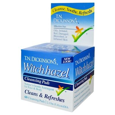 Dickinson Brands, Witch Hazel Cleansing Pads, 60 Pads
