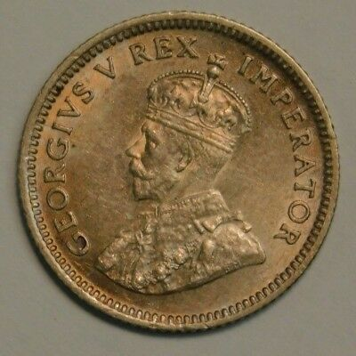 1929 South Africa 6 Pence BU+ Check Pics!!