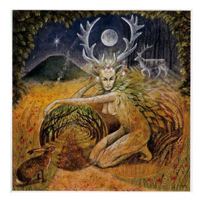 PAGAN WICCAN GREETING CARDS Elen of the Ways GODDESS Nature HARE WENDY ANDREW