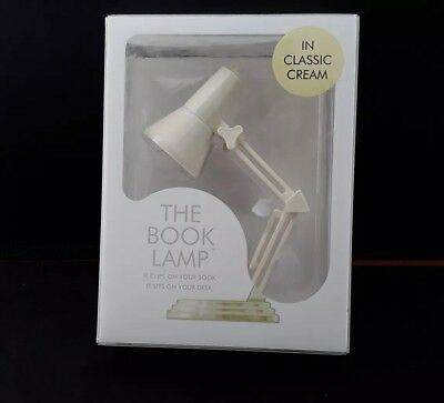 The Book Lamp In Classic Cream Retro Reading Light Brand New Boxed Vintage Style