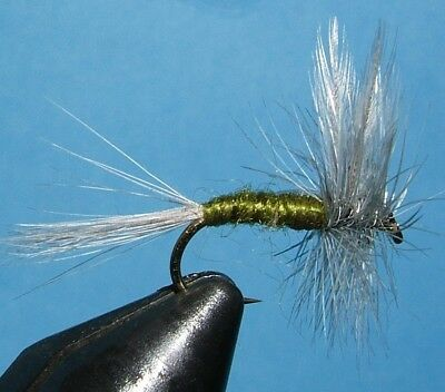 Blue Winged Olive – 12 flies – sizes – 10, 12, 14 .dry fly.