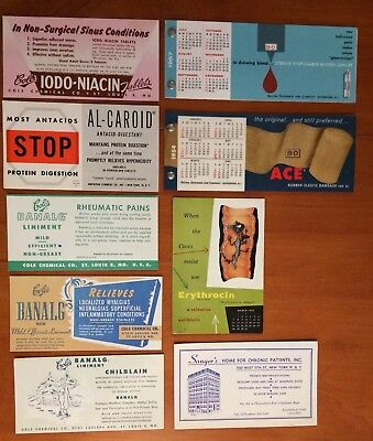 Vintage Medical Advertising Blotters & 2 B&D Medical Supplies Calender Booklets