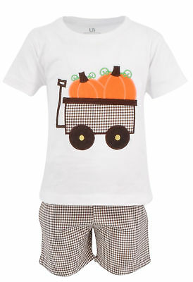 USA Thanksgiving Fall Toddler Kids Boy T-shirt Shorts Outfits Set Clothes 18m 2t