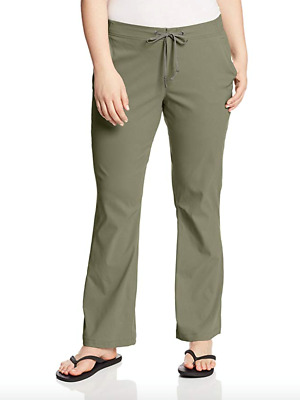 Columbia Womens Plus 18W Anytime Outdoor Bootcut Pant Cypress Green