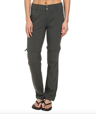 Columbia Womens size 2 Saturday Trail II Convertible Pants Grill Gray