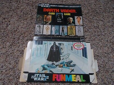 1978 Burger Chef Star Wars FUNMEAL Darth Vader Card game complete RARE Original