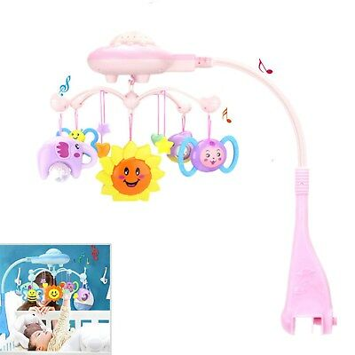 1x Baby Musical Crib Bed Cot Mobile Stars Dreams Light Flash Nusery Lullaby Toy