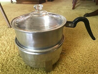 Vintage ALUMINUM SUPERLECTRIC Electric popcorn popper model 300 USA - no cord