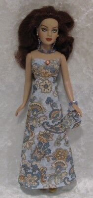 Made to fit TINY KITTY COLLIER  #71, Dress, Purse & Jewelry,  Handmade Clothes