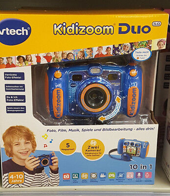 Vtech Kidizoom Duo Kamera Digitalkamera für Kinder NEU 10 in 1 Blau Orange