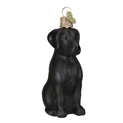 """Black Lab (Labrador)"" (12385)X Old World Christmas Glass Ornament w/OWC Box"