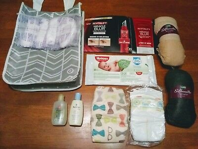 New Mom/Baby sample pack, baby wash, lotion, self care items, and MORE