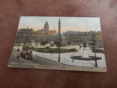 1909 fr WR&S postcard - George Square - Glasgow