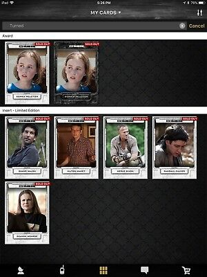 Topps Walking Dead Digital Turned Set w/Award + Bonus Special Variant Award
