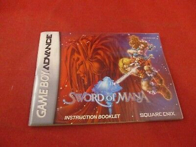 Sword of Mana Nintendo Game Boy Advance Instruction Manual Booklet ONLY