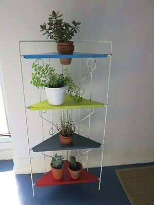 Vintage Mid Century French Modernist Metal Floor Standing Plant Stand