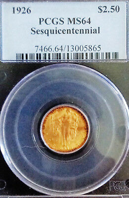 1926 GOLD PCGS MS-64 Sesquicentennial Quarter Eagle ✰ Only 46K were Minted !!!!!