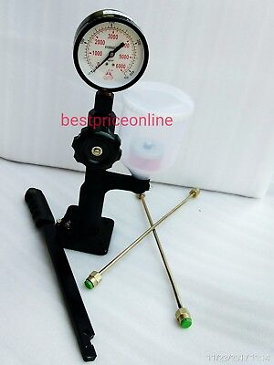 DIESEL INJECTOR NOZZLE POP TESTER DUAL SCALE 6000 BAR/PSI GAUGE 00A @ bs