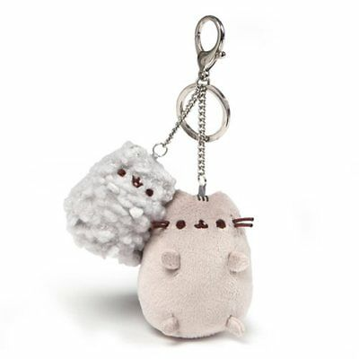 Gund NEW * Pusheen and Stormy Deluxe Clip * Cat Clip-On Backpack Plush Key Chain