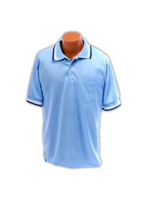 XXL Umpire Shirt in Light Blue Polyester-Cotton Blend [ID 20404]