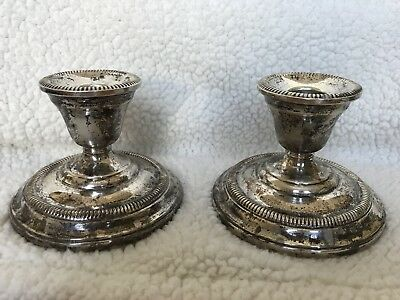 Kenilworth Watrous Sterling Silver Candle Holders Weighted