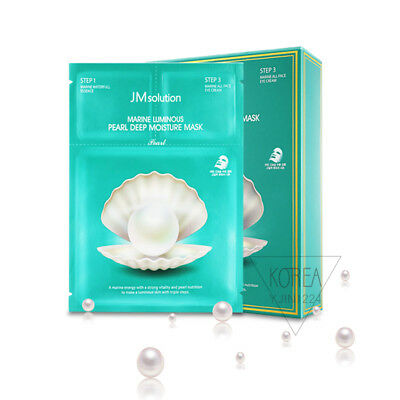 [JM Solution] Marine Luminous Pearl Deep Moisture Mask Sheet + FREE SAMPLE