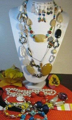 Lot Of 12 Pcs Estate Sale Jewelry~ Vingage To Now~All Wearable~Assorted~Nos