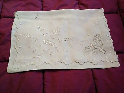 Antique English / Irish / Madeira Cutwork & Embroidered Nightgown Case