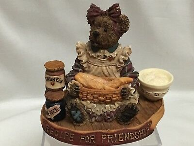 BOYDS BEAR Bearstone RECIPE For FRIENDSHIP FIGURINE Exclusive For LONGABERGER