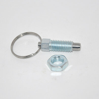 M8 index plunger with ring pull spring loaded retractable locking pin # Z884 ZY