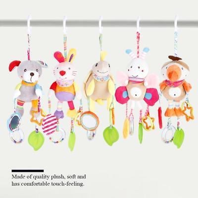 Soft Infant Plush Toys Animal Rattle Baby Bed Stroller Hanging Doll Ring Bell