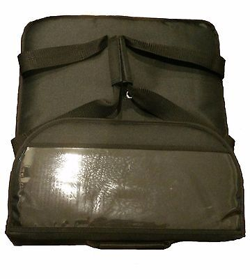"""16"""" inch Insulated Pizza Delivery Bag Black (can hold three 14"""" pizza)"""