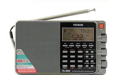 TECSUN PL-880 PLL Multi Conversion AM/FM/LW/SW SSB Radio << GREY >>