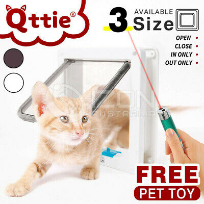 New 4-Way Safe Lockable Lockable Pet Cat Dog Flap Access Door Screen Locking